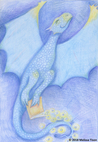 June Dragon #1: Colored Pencil